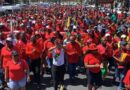 South African unions protest over corruption, job losses, wages