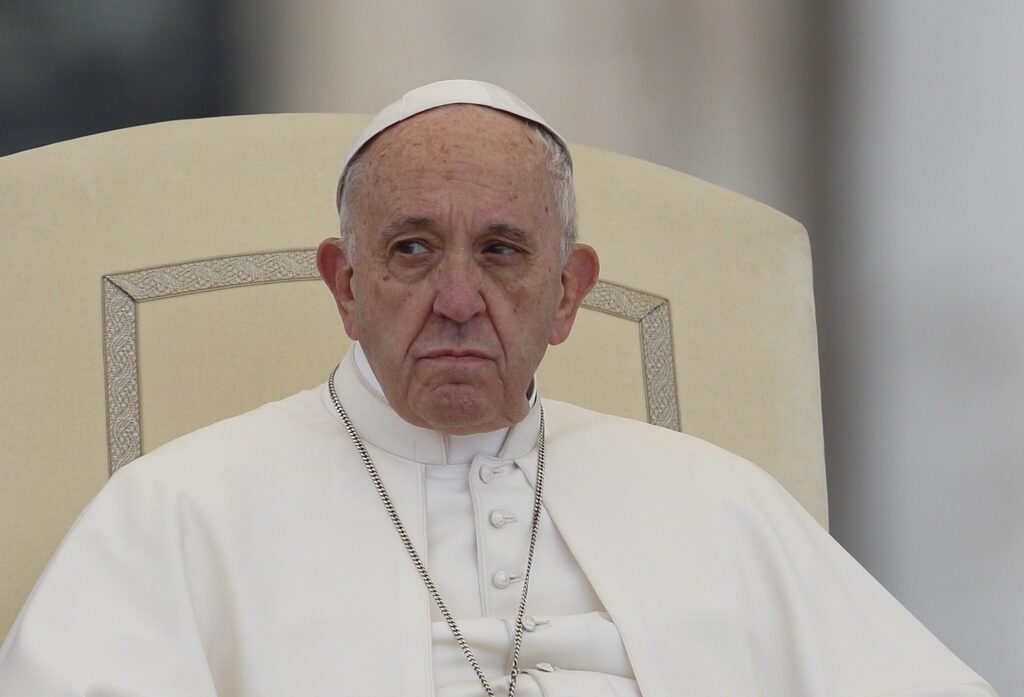 Pope says homosexuals should be covered by civil union laws.