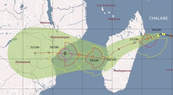 Zimbabwe Monitoring Depression Likely to Develop Into Tropical Chalane That May Hit Hard Eastern Areas